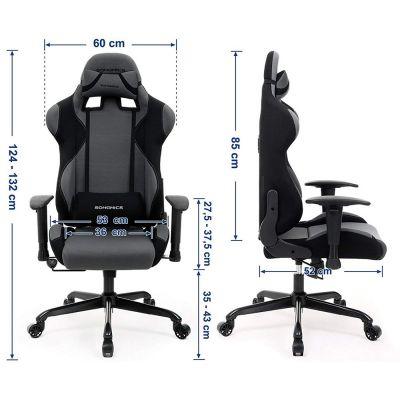 Gamingstuhl mit Neigetechnik (schwarz / grau)