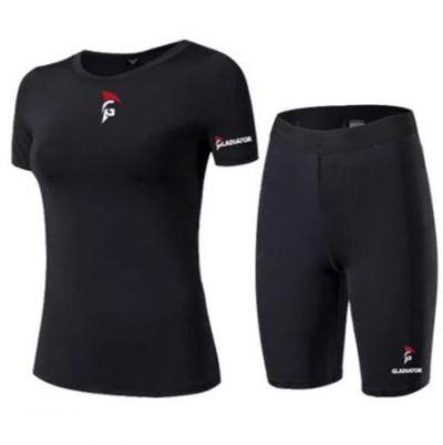 Gladiator Kompressionsshort und Shirt Damen