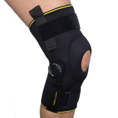 Kniebandage mit einstellbaren Gelenken