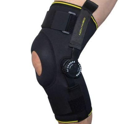 Kniebandagen mit einstellbaren Gelenken