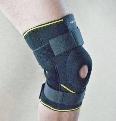 Leichte Kniebandage mit Gelenkschienen