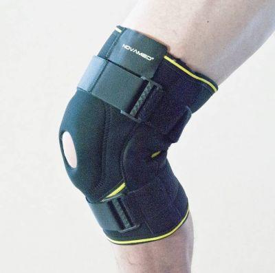Kniebandage mit Gelenkschienen