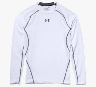 Under Armour HeatGear Kompressionsshirt Weiß