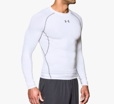 Under Armour HeatGear Kompressionsshirt langärmlig Weiß