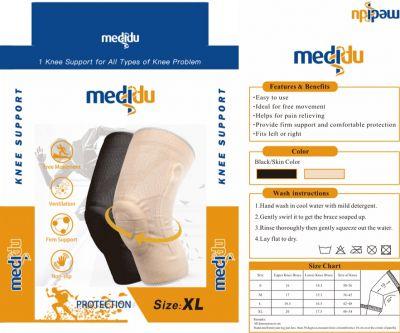 Medidu Premium leichte Kniebandage mit Federstahlstreben Packung