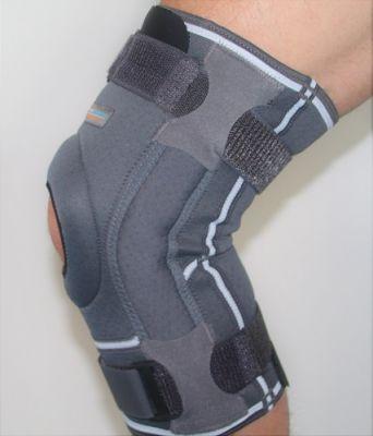 Seite Kniebandage mit Gelenkschienen